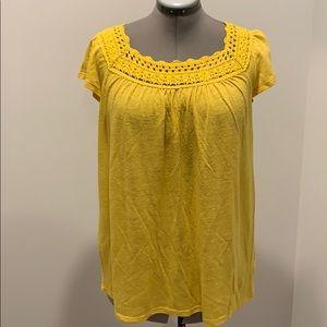 Crochet neck blouse